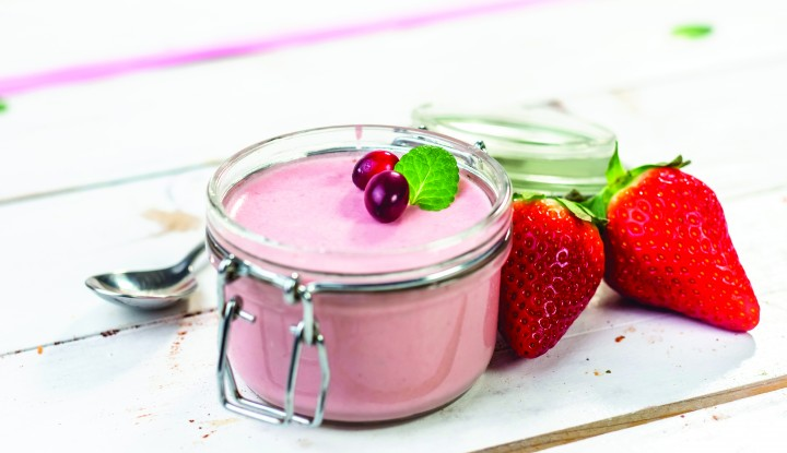 Homemade strawberry mousse