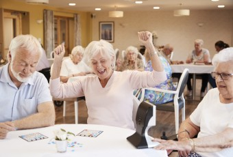 Happy Seniors Playing Bingo
