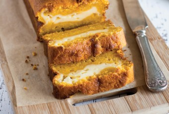 Cheesecake Stuffed Pumpkin Bread
