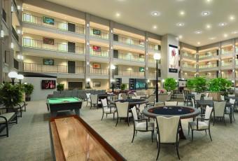 A beautiful, spacious Atrium of a senior living facility